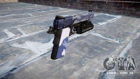 Arma Kimber 1911 Blue Tiger para GTA 4 segundo screenshot
