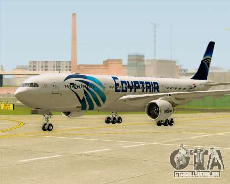 Airbus A330-300 EgyptAir para GTA San Andreas esquerda vista