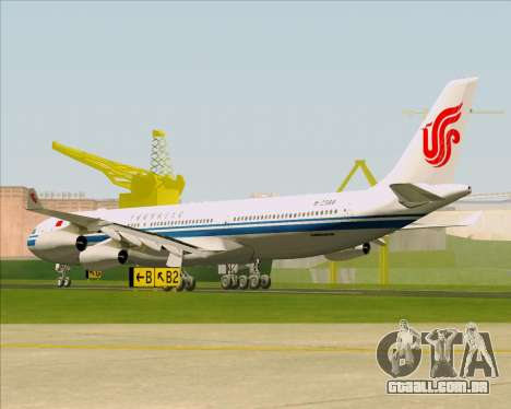 Airbus A340-313 Air China para GTA San Andreas vista direita