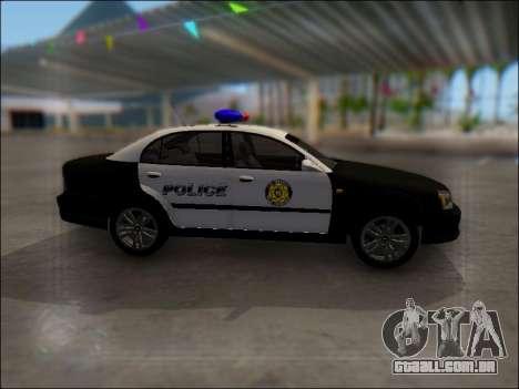 Chevrolet Evanda Police para GTA San Andreas vista interior