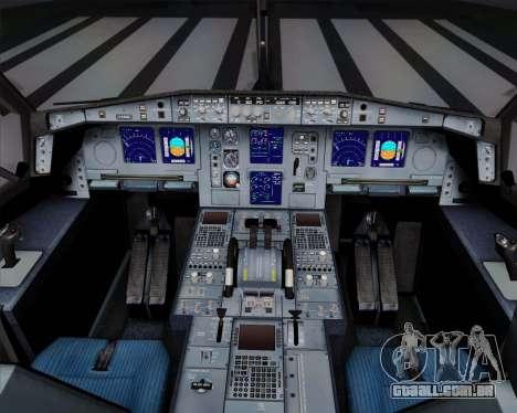 Airbus A340-311 Turkish Airlines (Star Alliance) para GTA San Andreas vista inferior