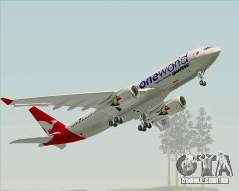 Airbus A330-200 Qantas Oneworld Livery para o motor de GTA San Andreas