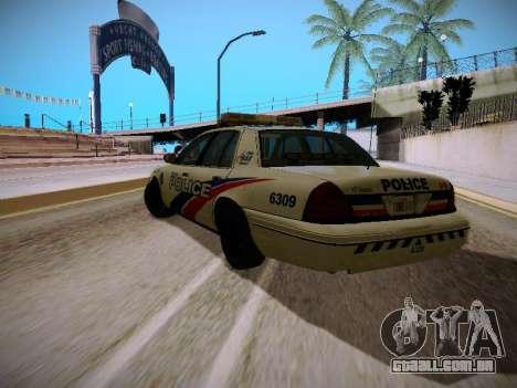 Ford Crown Victoria Toronto Police Service para GTA San Andreas traseira esquerda vista