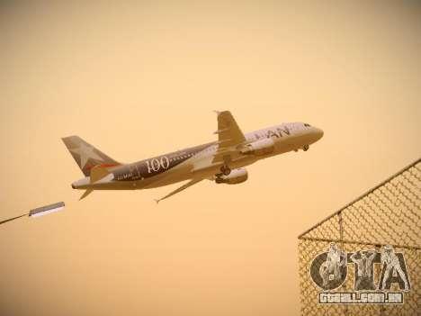 Airbus A320-214 LAN Airlines 100th Plane para GTA San Andreas vista interior