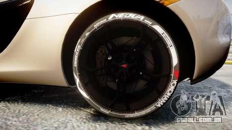 McLaren 650S Spider 2014 [EPM] Yokohama ADVAN v1 para GTA 4 vista de volta