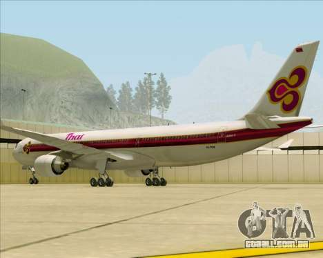 Airbus A330-300 Thai Airways International para GTA San Andreas vista direita