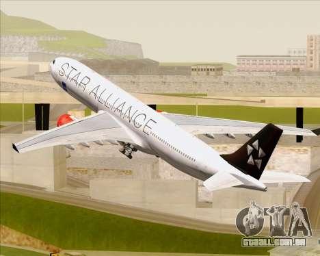 Airbus A330-300 SAS (Star Alliance Livery) para as rodas de GTA San Andreas