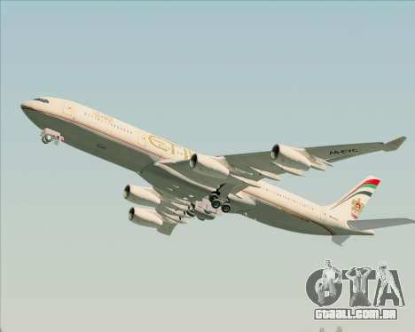 Airbus A340-313 Etihad Airways para o motor de GTA San Andreas