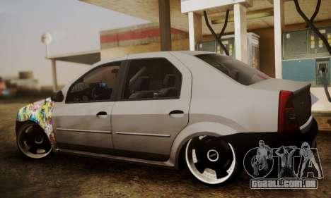 Dacia Logan Sedan Tuned para GTA San Andreas esquerda vista