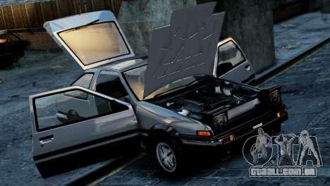 Toyota Sprinter Trueno AE86 Zenki para GTA 4 traseira esquerda vista