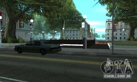 Uma nova estação de metrô de San Fierro para GTA San Andreas terceira tela