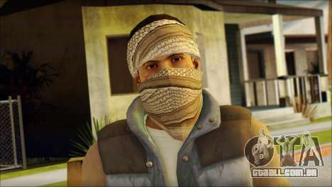 Arabian Resurrection Skin from COD 5 para GTA San Andreas terceira tela