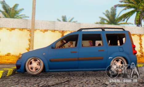 Dacia Logan MCV para GTA San Andreas traseira esquerda vista