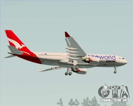 Airbus A330-200 Qantas Oneworld Livery para GTA San Andreas vista traseira