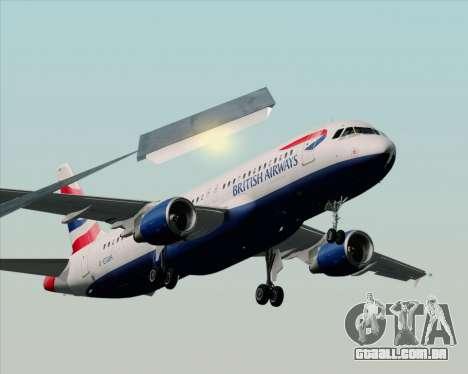 Airbus A320-232 British Airways para GTA San Andreas vista traseira