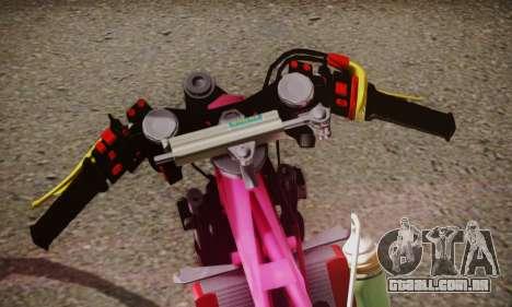 Super Cub Drag para GTA San Andreas traseira esquerda vista