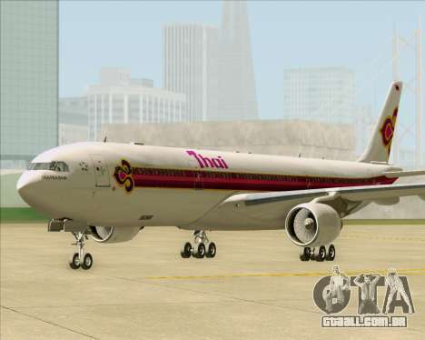Airbus A330-300 Thai Airways International para GTA San Andreas traseira esquerda vista