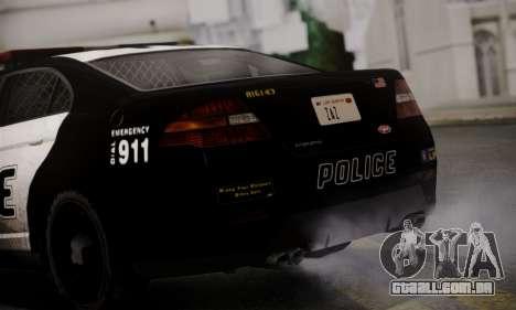 Vapid Police Interceptor from GTA V para GTA San Andreas vista traseira