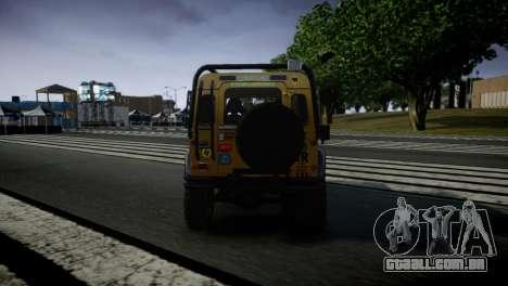 Land Rover Defender para GTA 4 vista direita