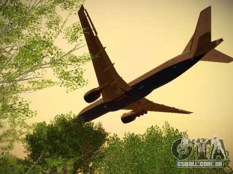 Boeing 777-2Q8ER Orenair Airlines para GTA San Andreas vista traseira