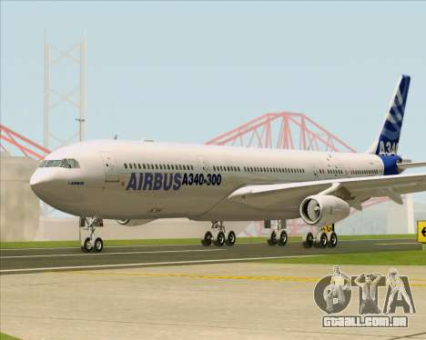 Airbus A340-311 House Colors para GTA San Andreas vista interior