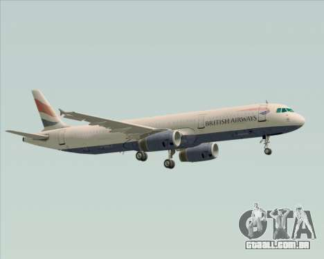 Airbus A321-200 British Airways para GTA San Andreas vista superior