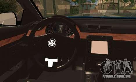 Volkswagen Passat CC Polizei 2013 v1.0 para GTA San Andreas traseira esquerda vista