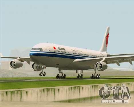 Airbus A340-313 Air China para vista lateral GTA San Andreas