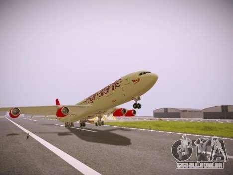Airbus A340-300 Virgin Atlantic para GTA San Andreas