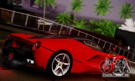 Ferrari LaFerrari F70 2014 para GTA San Andreas vista interior