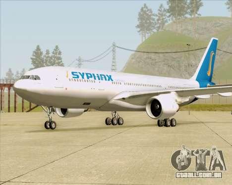 Airbus A330-200 Syphax Airlines para GTA San Andreas traseira esquerda vista