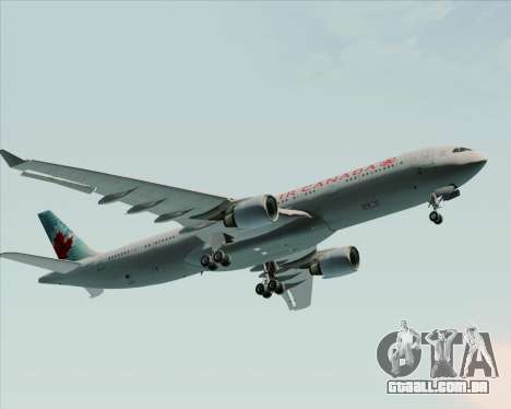 Airbus A330-300 Air Canada para GTA San Andreas vista superior