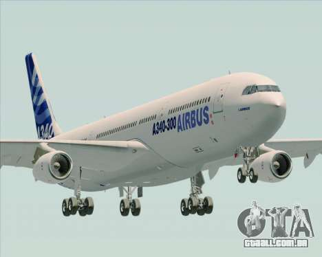 Airbus A340-311 House Colors para vista lateral GTA San Andreas