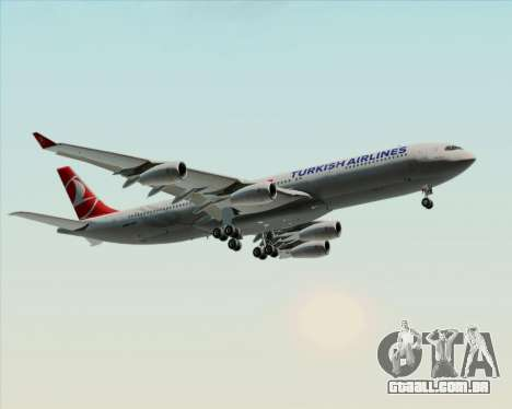 Airbus A340-313 Turkish Airlines para as rodas de GTA San Andreas