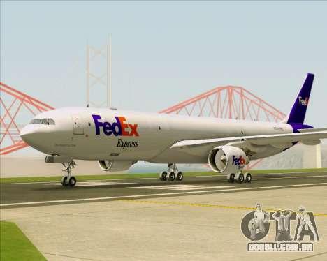 Airbus A330-300P2F Federal Express para GTA San Andreas vista traseira
