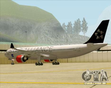 Airbus A330-300 SAS (Star Alliance Livery) para GTA San Andreas vista direita