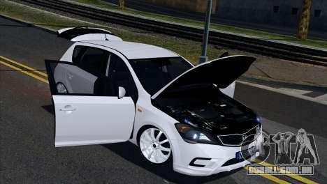 Kia Ceed para GTA San Andreas vista interior