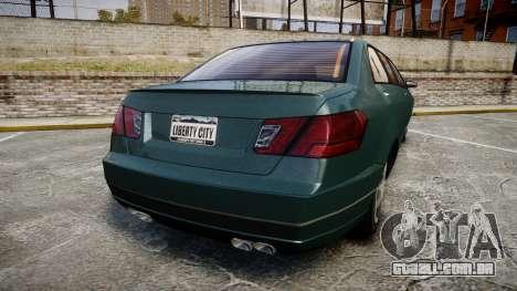 Benefactor Schafter Limousine para GTA 4 traseira esquerda vista