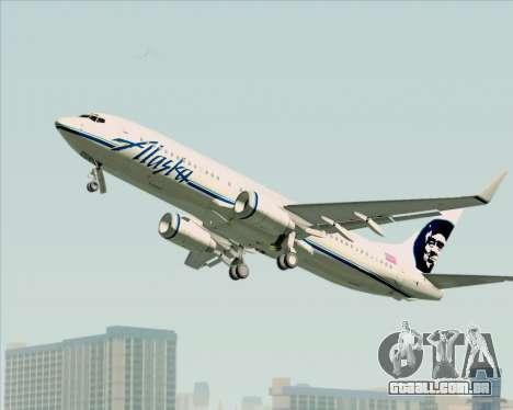 Boeing 737-890 Alaska Airlines para GTA San Andreas vista traseira