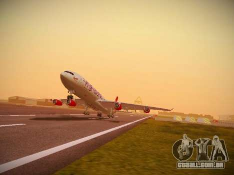 Airbus A340-300 Virgin Atlantic para GTA San Andreas esquerda vista
