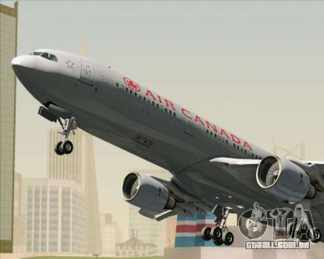 Airbus A330-300 Air Canada para GTA San Andreas vista inferior