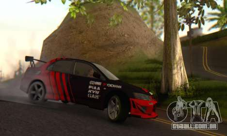 Mitsubishi Lancer Turkis Drift Advan para GTA San Andreas