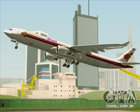 Airbus A330-300 Thai Airways International para GTA San Andreas vista superior