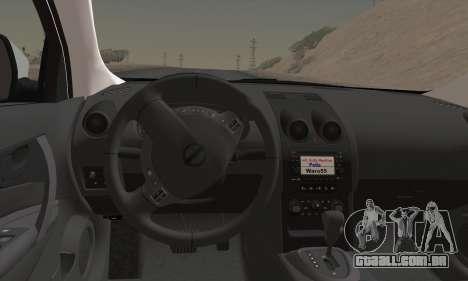 Nissan Qashqai TR POLÍCIA para GTA San Andreas traseira esquerda vista