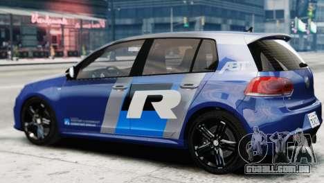 Volkswagen Golf R 2010 ABT Paintjob para GTA 4 esquerda vista