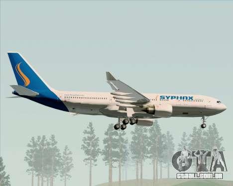 Airbus A330-200 Syphax Airlines para GTA San Andreas vista inferior