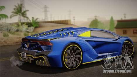 GTA 5 Zentorno para GTA San Andreas esquerda vista