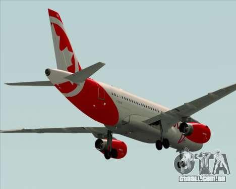 Airbus A319 Air Canada Rouge para GTA San Andreas vista direita