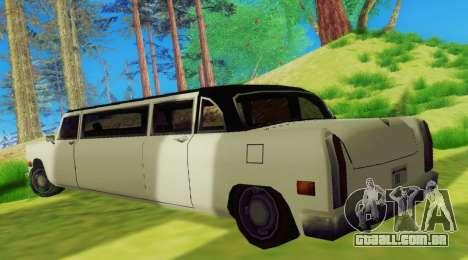 Cabbie Limousine para GTA San Andreas vista direita
