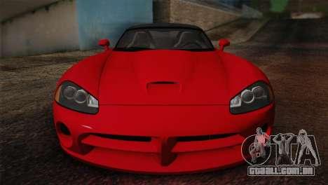 Dodge Viper SRT-10 2003 para GTA San Andreas vista traseira